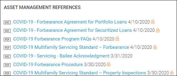 Asset Management References